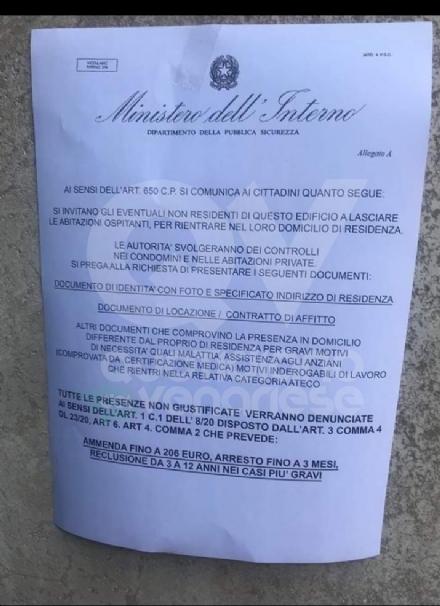 CORONAVIRUS -  Attenzione al falso volantino del Ministero dellInterno