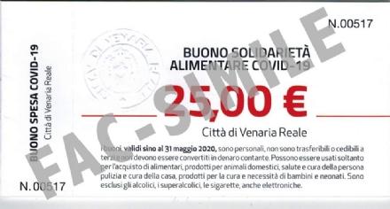 VENARIA - Buoni spesa: Il Comune aggiunge 17mila euro. Ora scattano i controlli per i beneficiari