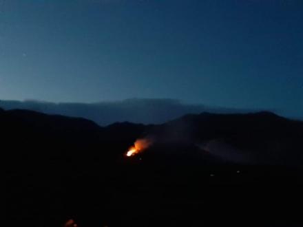 CASELETTE-VAL DELLA TORRE - Incendio sul Musiné: situazione sotto controllo