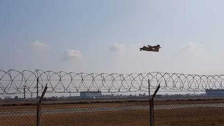 CASELLE - EMERGENZA INCENDI: i Canadair allaeroporto «Sandro Pertini»