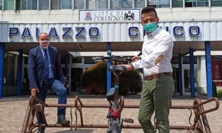 COLLEGNO - Da oggi parte linstallazione di 110 rastrelliere per le biciclette