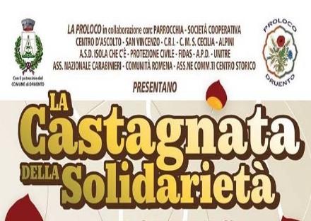 DRUENTO - Domenica 4 novembre la «Castagnata della Solidarietà»