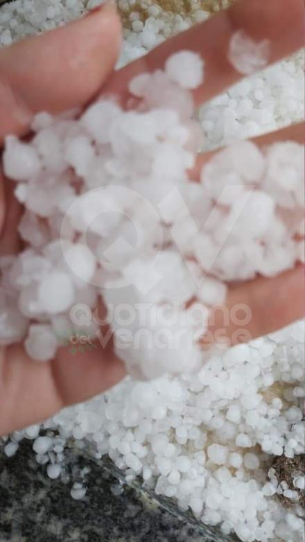 MALTEMPO - Grandine pioggia e vento nella nostra zona. Chicchi da 3 centimetri di diametro - FOTO