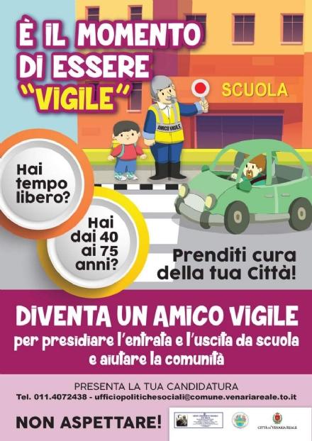 VENARIA - Lappello dellassociazione «Amico Vigile»: «cerchiamo nuovi volontari»