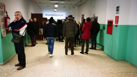 VENARIA - ELEZIONI 2018 - Affluenza di poco superiore al 61%. Code e attese ai seggi