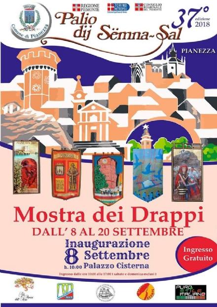 PIANEZZA - A Torino la mostra dei drappi delle 36 edizioni del Palio di Pianezza