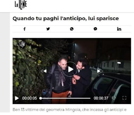 GRUGLIASCO - Le Iene «indagano» sul geometra: i carabinieri gli sequestrano i beni