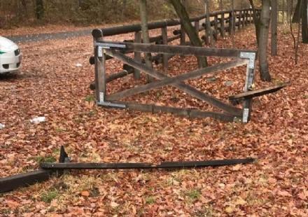 CAFASSE - Vandali in azione nel bosco sportivo attrezzato: spaccata una cancellata