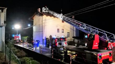 BALANGERO - Un furioso incendio devasta unabitazione - FOTO