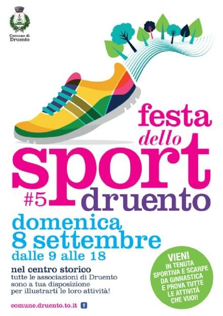DRUENTO - Domani la quinta edizione della «Festa dello Sport»