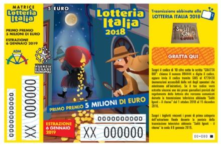 FIANO - Lotteria Italia, la Dea Bendata bacia il paese: vinto un premio da 25mila euro