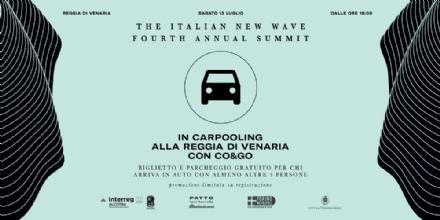 VENARIA - «The Italian New Wave»: biglietto e parcheggio gratis per chi arriva in carpooling