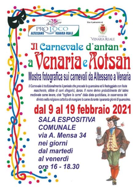 VENARIA - Questanno il Carnevale sarà una mostra, grazie alla Pro Loco