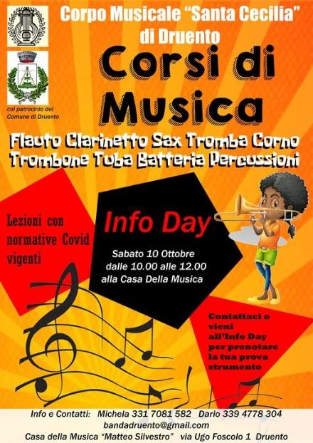 DRUENTO - Sabato la presentazione dei corsi musicali 2020-2021 del «Santa Cecilia»