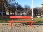 VENARIA - Sei panchine rosse per dire «NO» alla violenza sulle donne: dipinte dalla Factory - immagine 10
