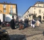 VENARIA - Il centro città set del film «Corro da te» con Pierfrancesco Favino e Miriam Leone FOTO - immagine 15