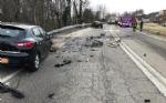 TRAGEDIA A CAFASSE - Scontro fra tre auto, una finisce nella scarpata: morta donna di 60 anni - immagine 1