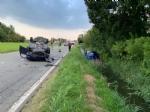 CASELLE - Scontro fra due auto: una si ribalta, ferita una donna - immagine 1