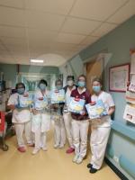 SOLIDARIETA IN OSPEDALE - Tablet per i malati, colombe e uova di Pasqua per il personale sanitario - immagine 1