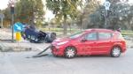 TORINO - VENARIA - Incidente allincrocio vicino alla Cittadella della Juve: tre feriti - immagine 1