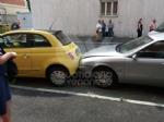 VENARIA - Incidente allincrocio tra via Silva e via Verdi: quattro auto coinvolte e due feriti - immagine 1