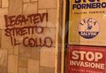 COLLEGNO - Imbrattata la sede della Lega Nord con scritte contro Salvini - immagine 1