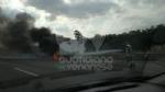 COLLEGNO - Furgone va a fuoco in tangenziale, e il traffico va in tilt - immagine 1