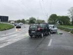VENARIA - Frontale allo svincolo della tangenziale: due auto coinvolte, due feriti - immagine 1