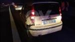INCIDENTE IN TANGENZIALE - Scontro fra tre auto: una si ribalta, una persona ferita FOTO - immagine 1