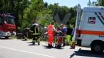 VENARIA - Grave incidente sulla Sp1: scontro tra due auto finite nella scarpata - FOTO e VIDEO - immagine 1