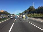 COLLEGNO - Incidente in tangenziale: tre auto coinvolte, una ribaltata e tre feriti - immagine 1