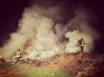 DRUENTO - A fuoco delle ramaglie in un terreno agricolo a ridosso della provinciale - immagine 1