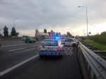 RIVOLI - Incidente in tangenziale: 500 finisce contro il guard-rail. Un ferito - immagine 1