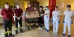 SOLIDARIETA - Uova di Pasqua e colombe donate da pompieri e polizia municipale a ospedali e residenze per anziani - immagine 4