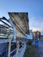 VENARIA - Raffiche di vento in città: scoperchiata la tettoia del sottopasso di corso Garibaldi - immagine 2