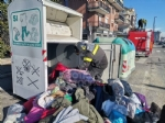 ALPIGNANO - Gattino rimane incastrato nel raccoglitore dei vestiti usati: salvato dai pompieri - immagine 2