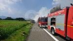 RIVOLI  - Il camioncino va a fuoco, la tangenziale in tilt: code chilometriche - immagine 2
