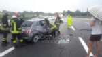 TANGENZIALE - La 500 si ribalta nel traffico: una donna e due bambine finiscono in ospedale - immagine 2