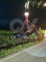MAPPANO - Auto in un canale in strada Goretta: è giallo - immagine 2