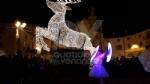VENARIA - Il grande cervo in piazza Annunziata è stato illuminato: il Natale è iniziato in città - immagine 2