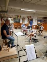 VENARIA - La banda torna a «casa»: le prove con il rispetto delle norme «anti Covid» - immagine 3