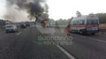 COLLEGNO - Furgone va a fuoco in tangenziale, e il traffico va in tilt - immagine 3