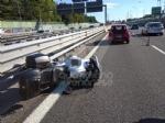 RIVOLI - Tamponamento auto-moto in tangenziale: centauro ferito - immagine 3