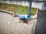 BORGARO - Idioti in azione: divelti i cestini, in frantumi una fermata del bus - immagine 3
