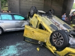 COLLEGNO - Incidente in tangenziale: tre veicoli coinvolti, unauto ribaltata e quattro feriti - immagine 3