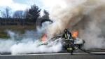 VENARIA - Auto a fuoco mentre percorre la tangenziale - immagine 3