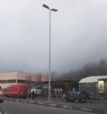 BORGARO - Incendio in azienda: colonna di fumo e aria irrespirabile - FOTO - immagine 3
