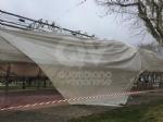 CASELLE - Il forte vento distrugge la tenda della tensostruttura del PratoFiera - immagine 4