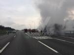 VENARIA-BORGARO - Il motore del tir prende fuoco: caos in tangenziale - immagine 4