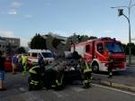 TORINO - VENARIA - Incidente allincrocio vicino alla Cittadella della Juve: tre feriti - immagine 4